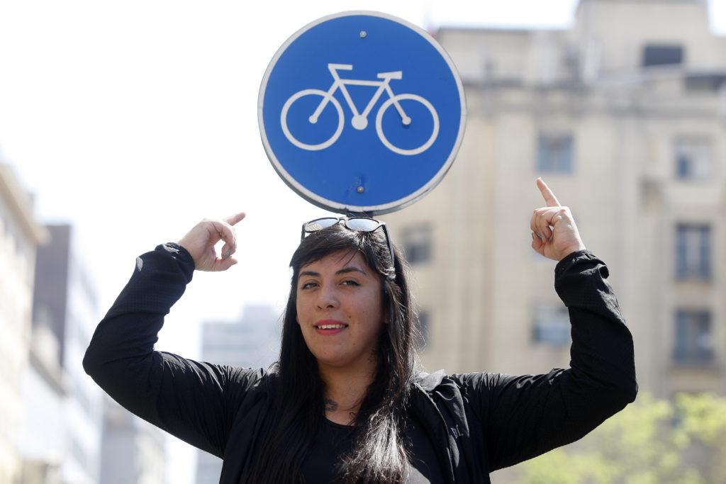 Santiago, 22 de septiembre de 2016. Entrevista a activista ciclista, Daniela Gonzalez. Paul Plaza/Revista Pedalea